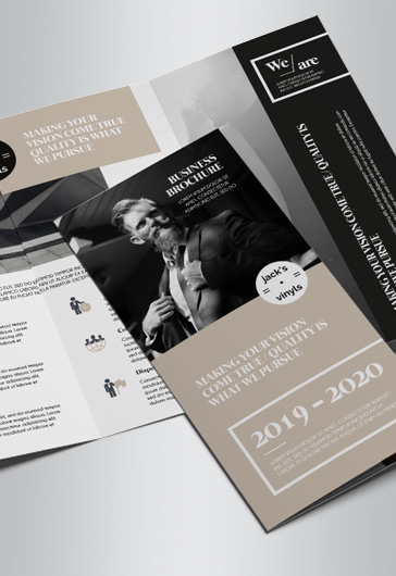 Free Brochure Templates In PSD By ElegantFlyer - Tri fold brochure photoshop template