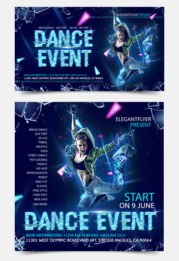 Dance Event – Facebook Event + Instagram template
