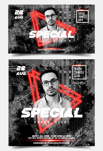 Animated Instagram + Facebook Flyer Template