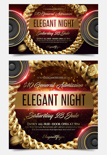 Elegant Night – Facebook Event + Instagram template