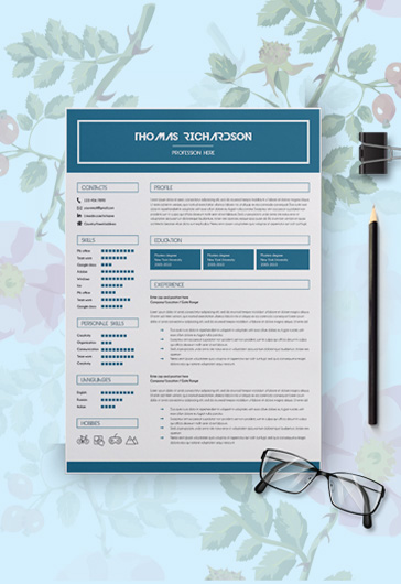 free modern resume templates for photoshop   psd