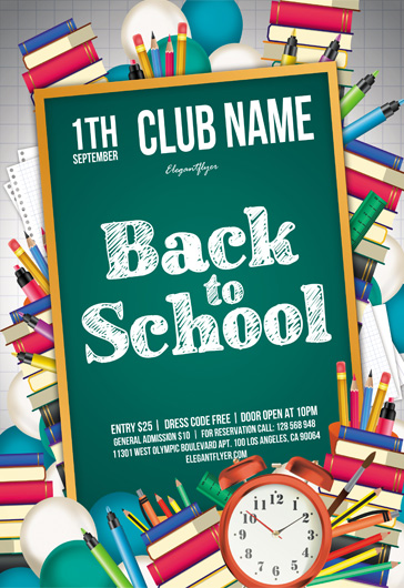 Private School – Flyer PSD Template
