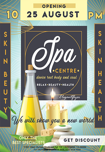 Spa Beauty Centre – Premium Flyer PSD Template