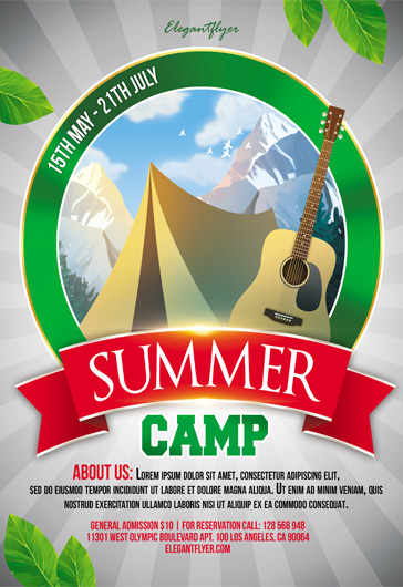 Summer Camp – Flyer PSD Template