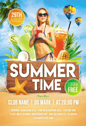 Summer Time – Flyer PSD Template