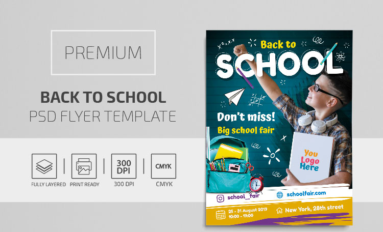 22+ Free Back-to-School Flyer Print-Ready Templates and Premium Version!
