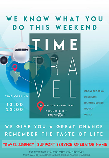 Travel Weekend – Flyer PSD Template
