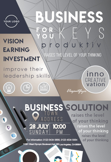 Business Keys – Flyer PSD Template