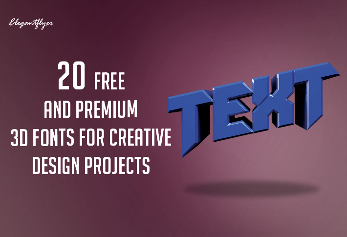 20 Free and Premium 3D Fonts for Creative Design Projects