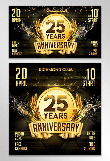Anniversary – Facebook Event + Instagram template