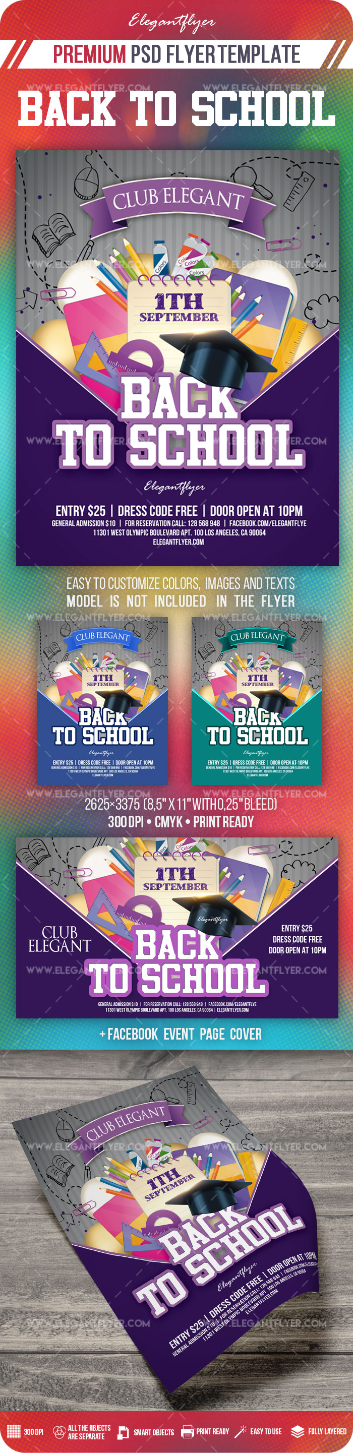 Back To School Flyer Psd Template By Elegantflyer