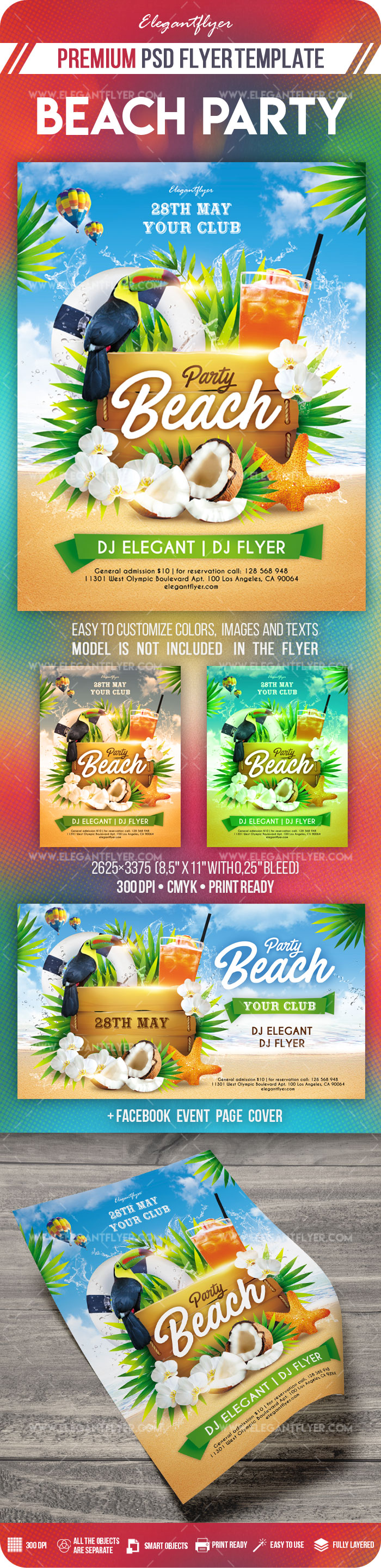 Beach Party – Flyer PSD Template