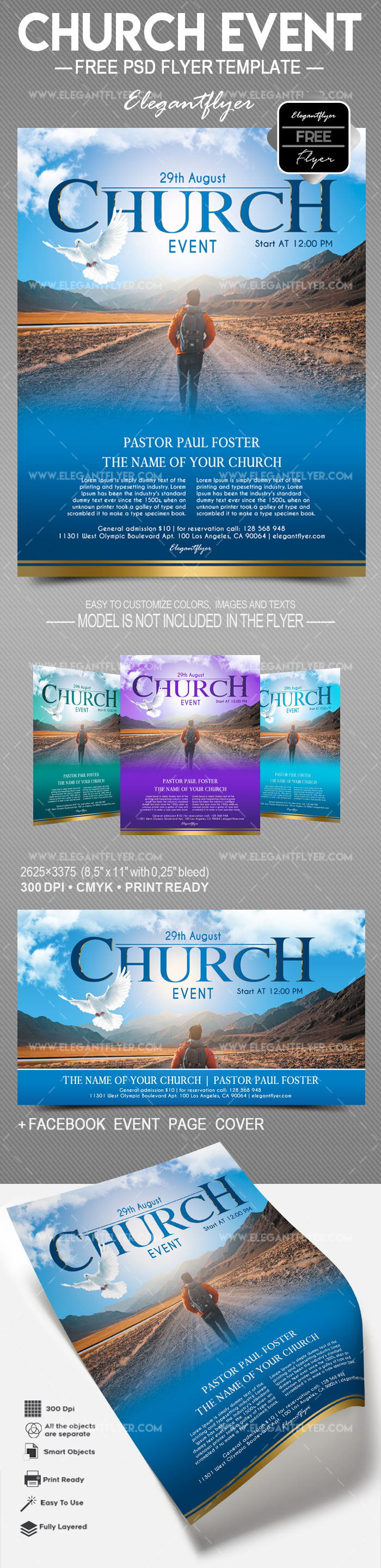 Church Event – Free Flyer PSD Template