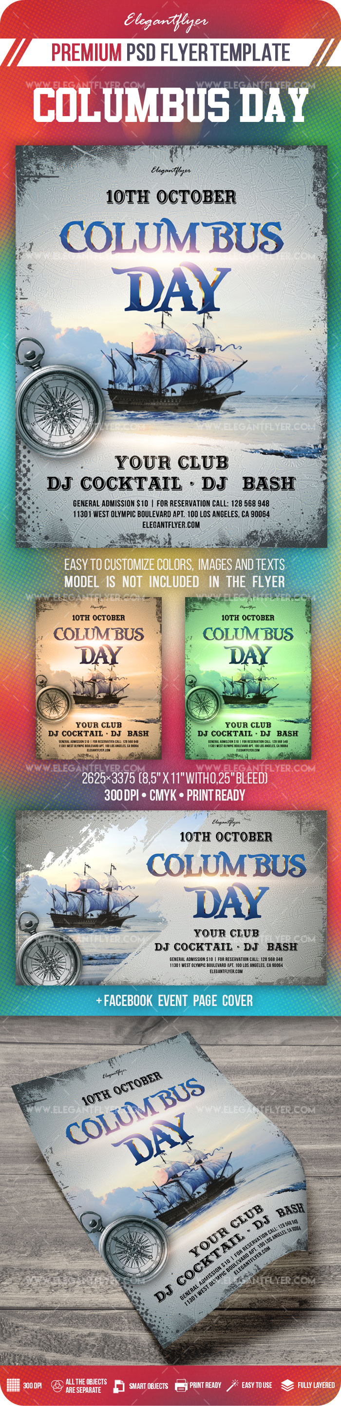 Columbus Day – Flyer PSD Template