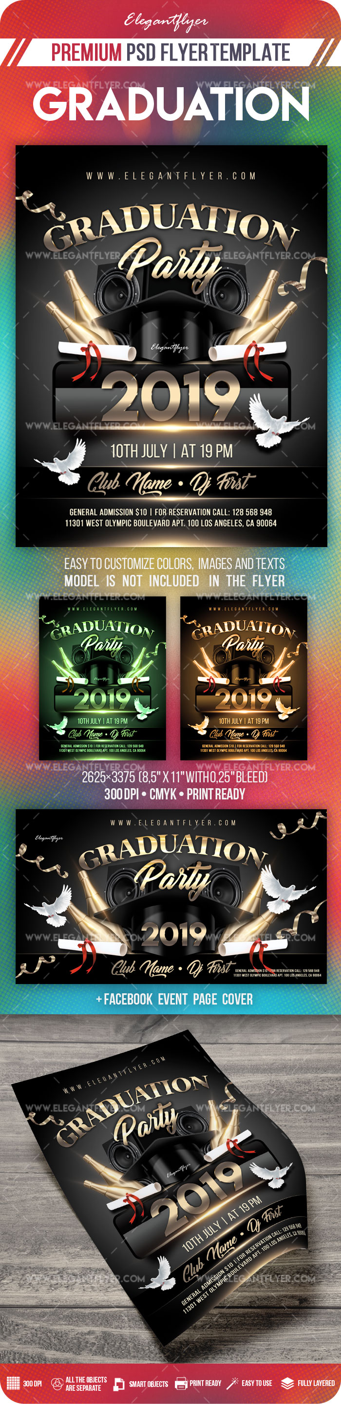 graduation party  u2013 flyer psd template  u2013 by elegantflyer
