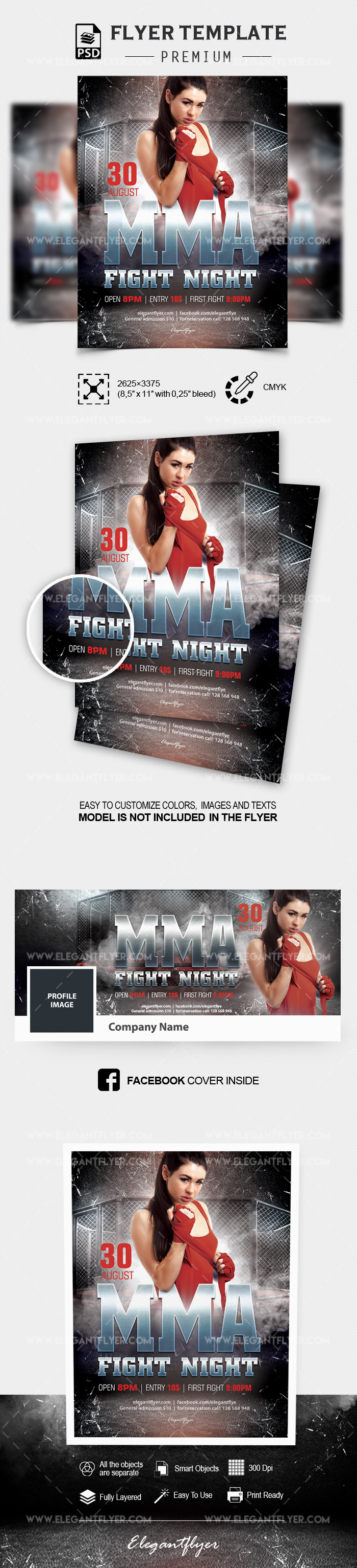 Fight Night – Flyer PSD Template