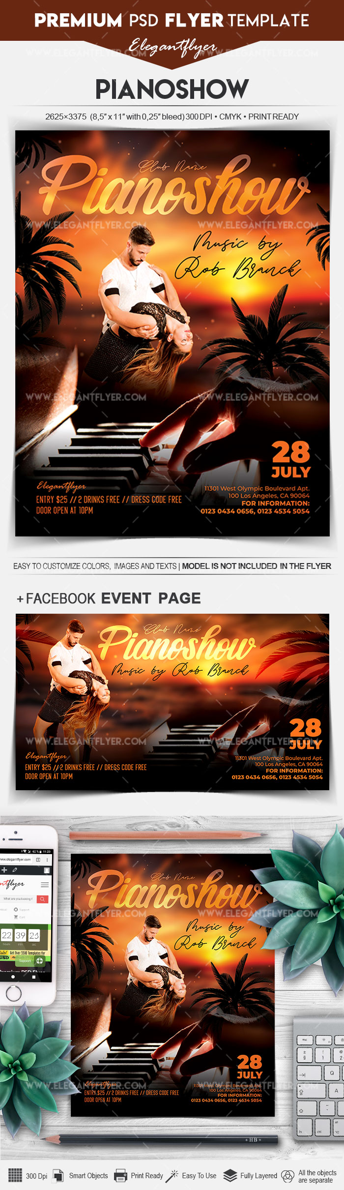 Piano show – Flyer PSD Template