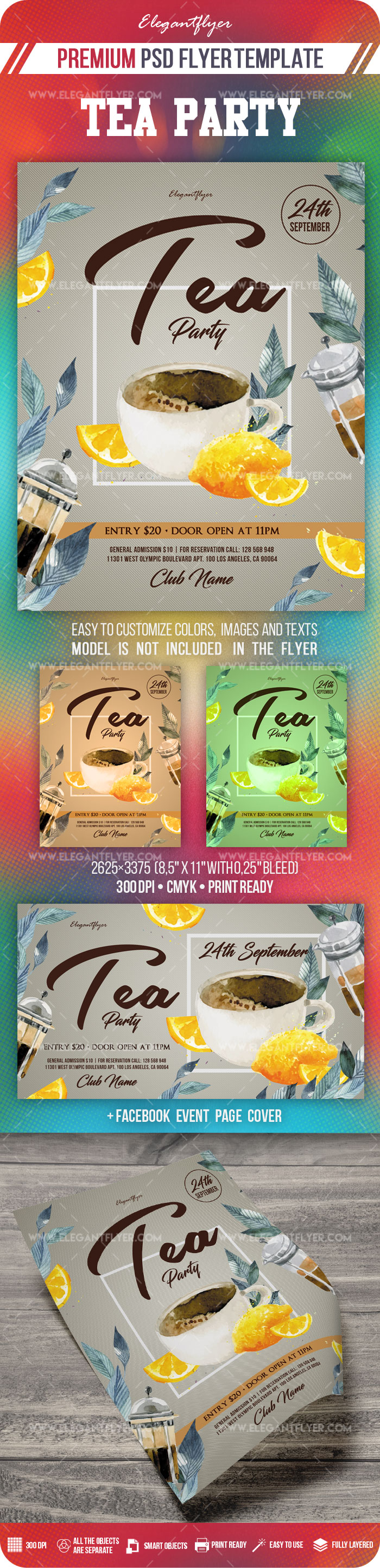 Tea Party – Flyer PSD Template