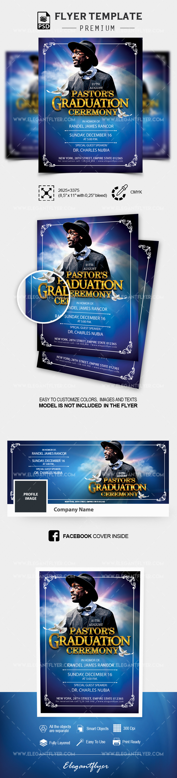 Pastor's Graduation Ceremony – Flyer Template