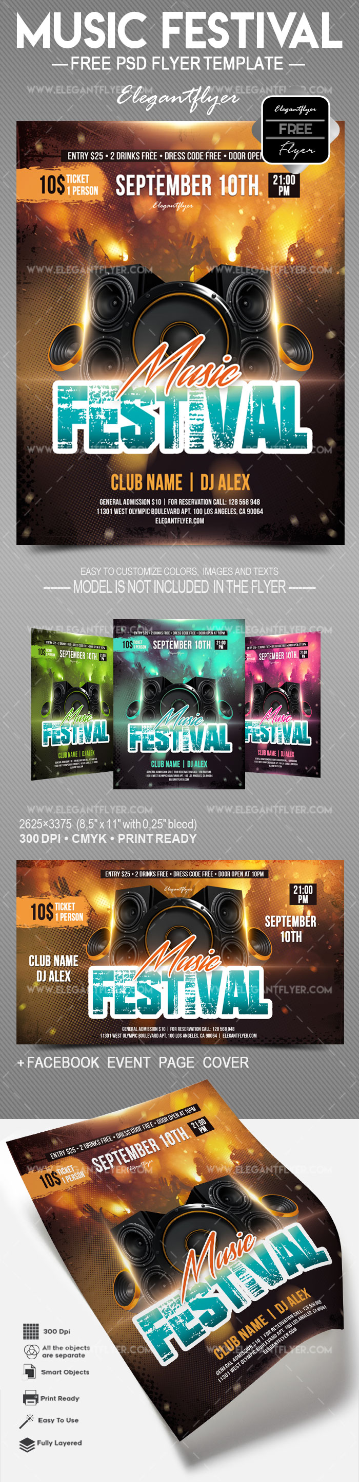 Music Festival – Free Flyer PSD Template