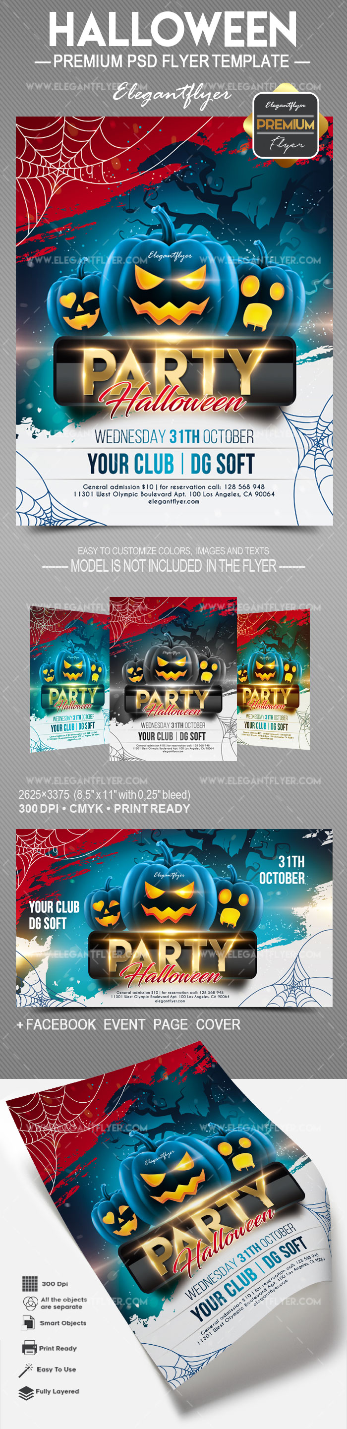Halloween Party – Flyer PSD Template