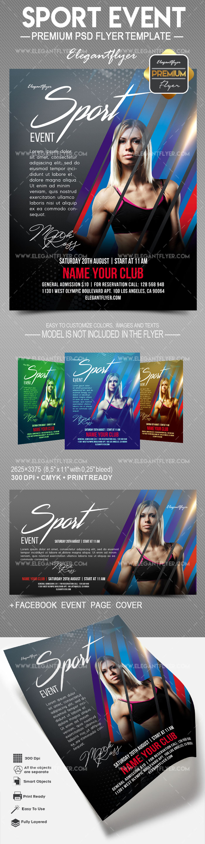 Sport Event – Flyer PSD Template