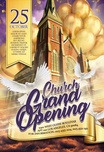 Church Grand Opening – Flyer PSD Template