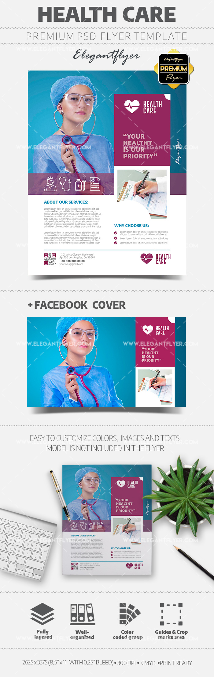 Health Care – Flyer PSD Template