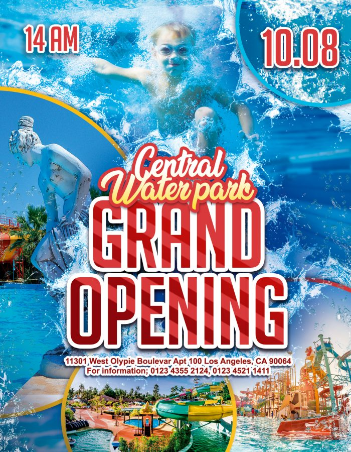 Water park Grand Opening – Flyer PSD Template