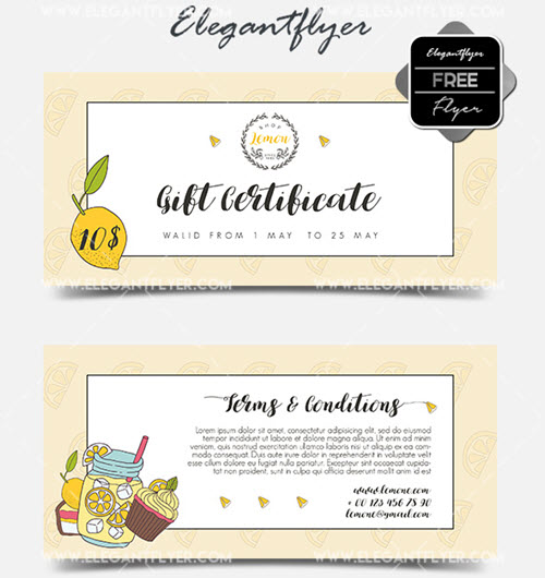30 Premium and Free Gift Certificate PSD Templates Ready for Print