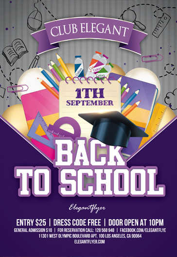Back to School – Flyer PSD Template