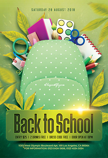 Flyers Templates | Back To School Free Flyer Psd Template By Elegantflyer