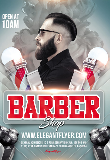 Barber shop – Flyer PSD Template