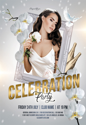 Celebration Party – Free Flyer PSD Template