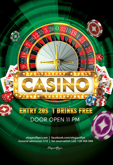 Casino – Flyer PSD Template