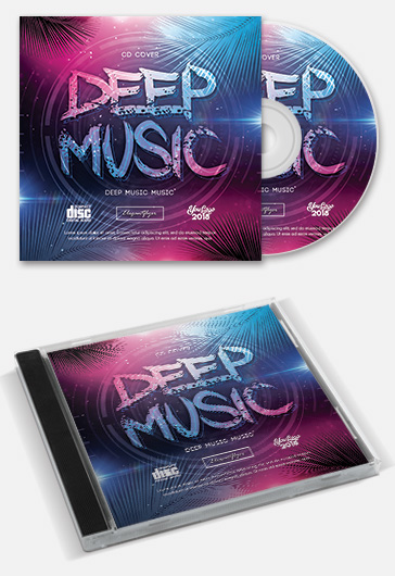Dj House Dance Music – Premium CD Cover PSD Template
