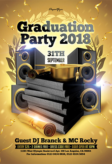 Graduation Party 2018 – Flyer PSD Template