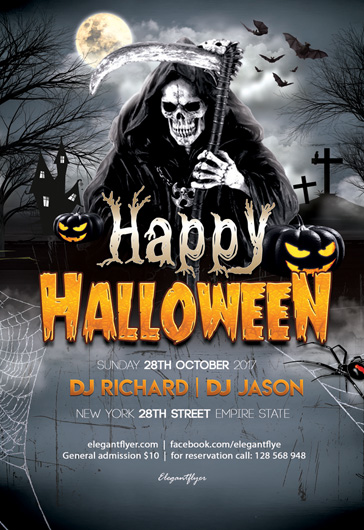 Happy Halloween – Flyer PSD Template