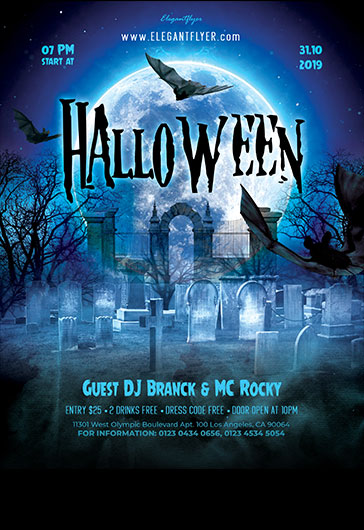 Halloween – Free Flyer PSD Template