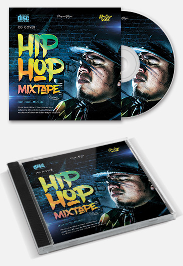 hip hop mixtape  u2013 free cd cover template  u2013 by elegantflyer