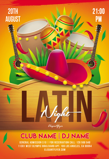 Latin Night – Flyer PSD Template