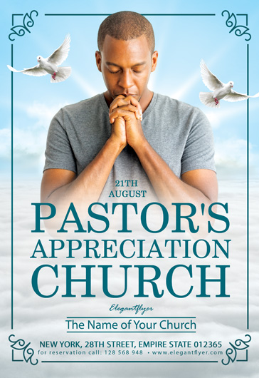 Free Pastor's Appreciation Church Flyer