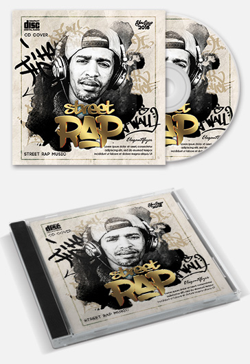 Street Rap – CD Cover Template