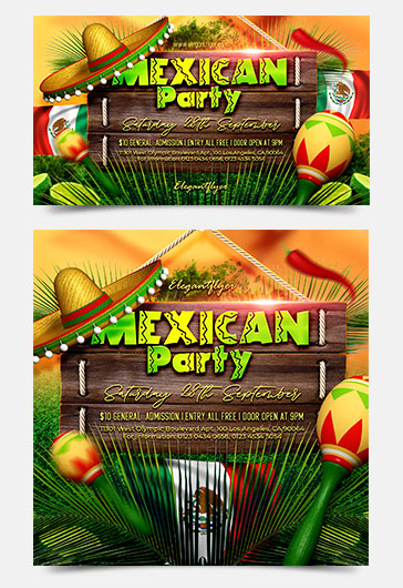 Mexican Party – Facebook Event + Instagram template