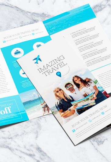 Travel – Tri-Fold Brochure PSD Template