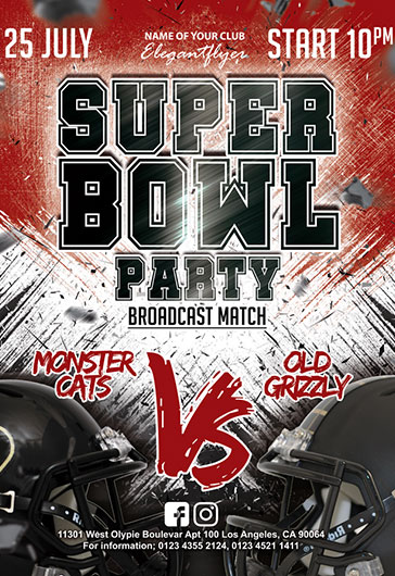 Super Bowl Party – Flyer PSD Template