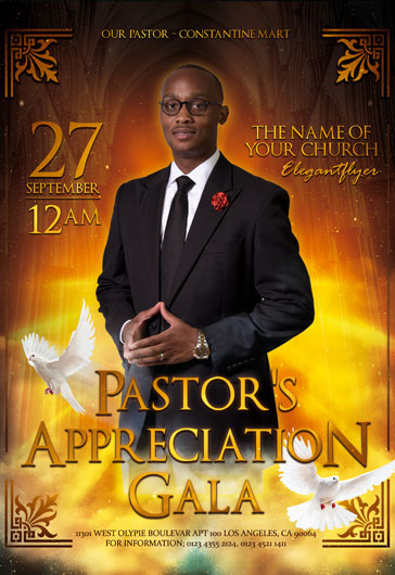 Pastor's Appreciation Gala – Flyer PSD Template