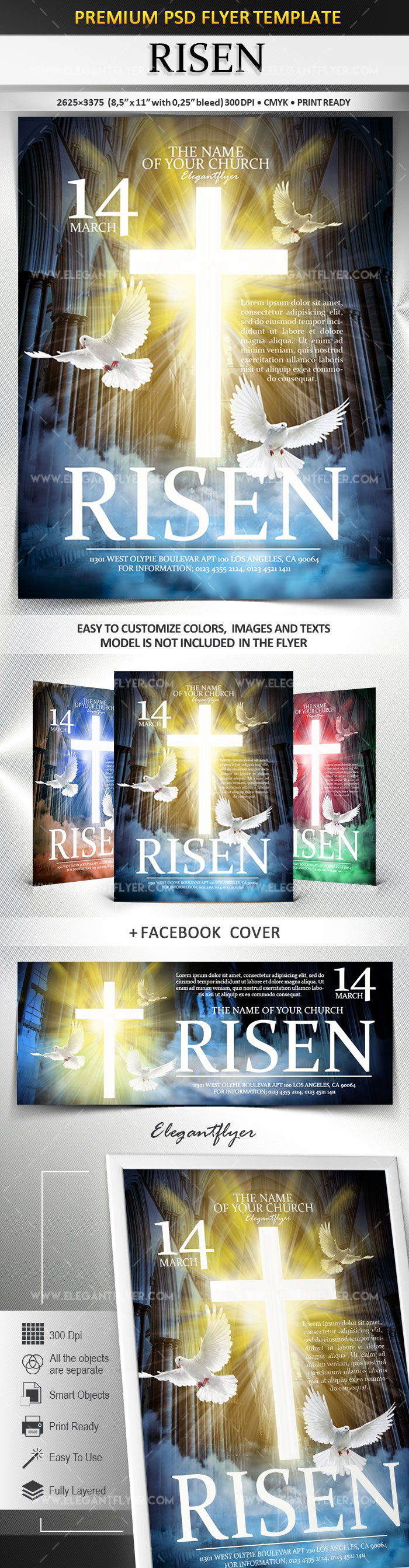 Risen – Flyer PSD Template