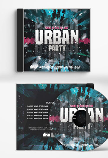 Urban party – CD Cover PSD Template