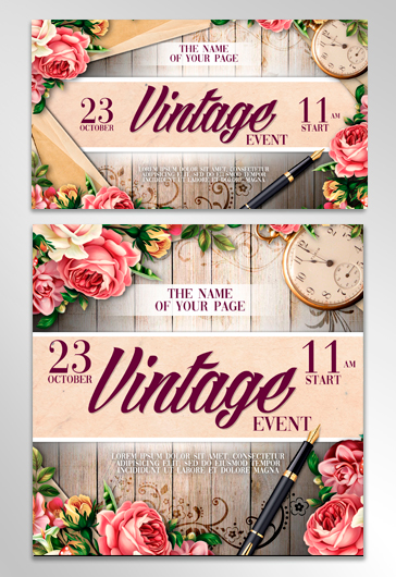 Vintage – Facebook Event + Instagram template